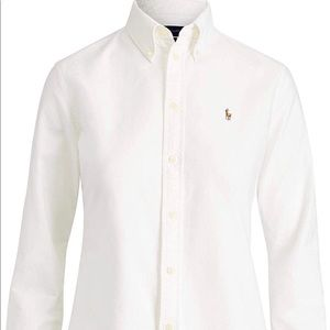 Polo Womens Custom Fit Oxford Button Down Shirt
